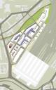 Leipzig: Quartierstruktur– Lageplan Westseite Hauptbahnhof