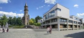 Neustadt b. Coburg: Vorschlag zur Neugestaltung des Rathausumfeldes (Bildmontage)