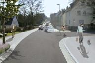 Grünberg: Bahnhofstraße nach einer möglichen Umgestaltung (Bildmontage)