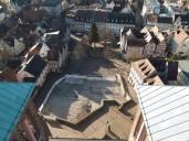 1 Bensheim - Blick von der Kirche auf den Marktplatz