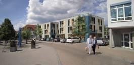 Neustadt b. Coburg: Vorschlag zur Bebauung der Brache am Arnoldplatz (Bildmontage)