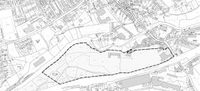 Arzberg: vorgesehener Geltungsbereich des Bebauungsplans Schumannareal