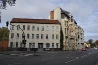 Bestandsbebauung an der Straße vor Schönholz