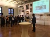 Berlin Marinehaus: Der Direktor der Berlinmuseen, Paul Spiess eröffnet die Ausstellung