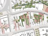 Celle: Ausschnitt Visionsplan mit Neustrukturierung des Blockinnenbereichs