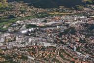 Blick auf den gewerblich und Einzelhandelsgeprägen Innenstadtbereich (Foto: Hajo Dietz)