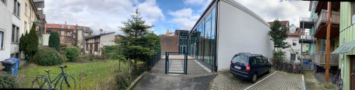 Nachverdichtung innerhalb eines Gebäudeblocks mit einem neuen Kindergarten im Bereich Stadelhofgasse