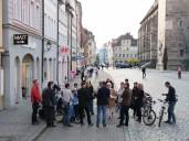 Ansbach: Stadtspaziergang am Nachmittag - hier Stop am Martin-Luther-Platz