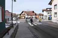 Scheidegg: Collage einer fußgängerfreundlicheren Gestaltung der Querungssituation im Bereich Alte Salzstraße
