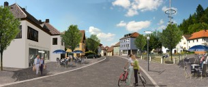 Oberes Rodachtal: Wallenfels – Blick auf die Ortsmitte